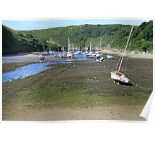 Boats at Solva Harbour Poster