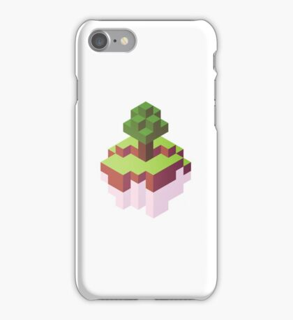 Minecraft Simple Floating Island - Isometric iPhone Case/Skin