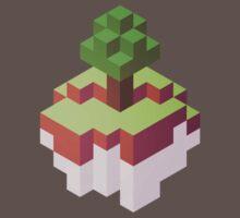 Minecraft Simple Floating Island - Isometric One Piece - Short Sleeve