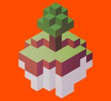 Minecraft Simple Floating Island - Isometric Kids Tee
