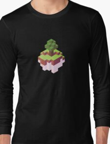 Minecraft Simple Floating Island - Isometric Long Sleeve T-Shirt