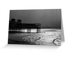 Grand Pier, Weston-super-Mare B&W Greeting Card