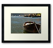 tranquil inlet, Costa da Morte, Galicia, Spain Framed Print