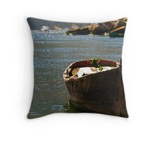 tranquil inlet, Costa da Morte, Galicia, Spain Throw Pillow
