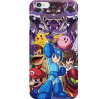 Super Smash Bros - Bowser, Megaman, Pikachu, Link, Mario, Samus, Fox, Kirby, Donkey kong iPhone Case/Skin