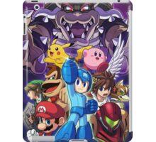 Super Smash Bros - Bowser, Megaman, Pikachu, Link, Mario, Samus, Fox, Kirby, Donkey kong iPad Case/Skin