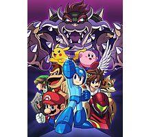 Super Smash Bros - Bowser, Megaman, Pikachu, Link, Mario, Samus, Fox, Kirby, Donkey kong Photographic Print