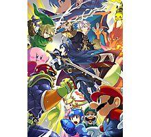 Super Smash Bros - Lucina, Robin, Pikachu, Mario, Luigi, Megaman, Captain Falcon, Kirby, Link, Peach, Charizard Photographic Print