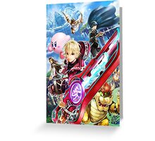 Super Smash Bros - Shulk, Kirby, Bowser, Marth, Ike Greeting Card