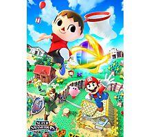 Super Smash Bros - Villager, Mario, Kirby, Link Photographic Print