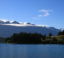 Lake Wakatipu and mountains from Walter Peak Farm. by DRWilliams