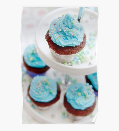 blue cupcake Poster