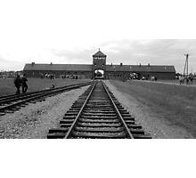 Gate house at Birkenau Photographic Print