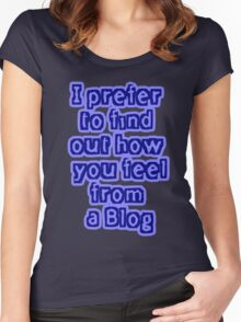 Blog your feelings Women's Fitted Scoop T-Shirt