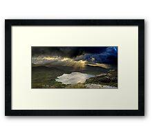 Barley Lake Sunrise Framed Print