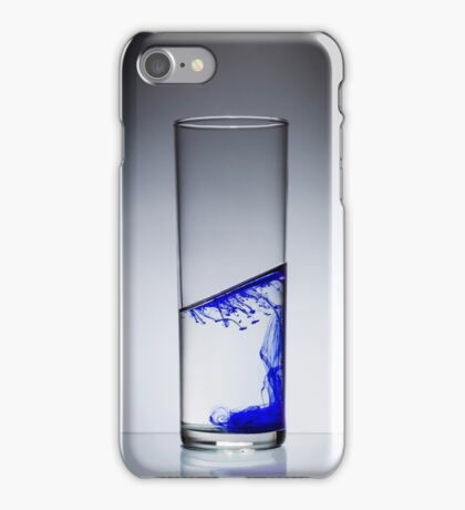 Ink diluted in glass of water iPhone Case/Skin