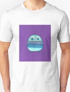 Owl in stripey cool greys and blues Unisex T-Shirt