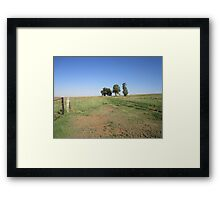 Trees and fence Framed Print