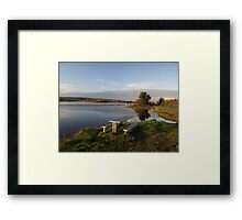 Beautiful Clare lake Framed Print
