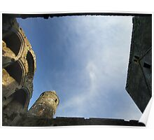 Rock of Cashel church roof view Poster
