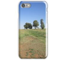 Trees and fence iPhone Case/Skin