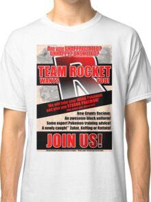 Pokemon - Team Rocket Recruitment Classic T-Shirt
