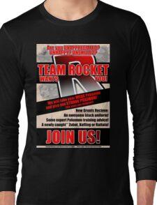 Pokemon - Team Rocket Recruitment Long Sleeve T-Shirt