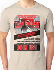Pokemon - Team Rocket Recruitment Unisex T-Shirt