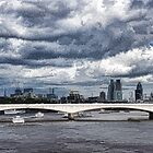 Impressions of London - Stormy Skies Skyline by Georgia Mizuleva