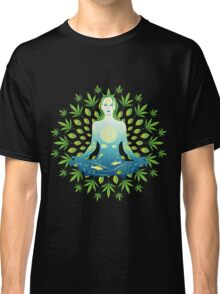 Young woman practicing meditation 3 Classic T-Shirt