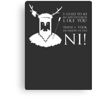 Arrow in the NI! Canvas Print
