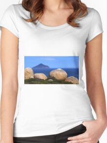 From the Lighthouse,  Wilsons Prom NP Women's Fitted Scoop T-Shirt
