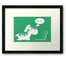 Programming zebra Framed Print