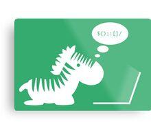 Programming zebra Metal Print
