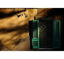 Old window in the setting sun Photographic Print