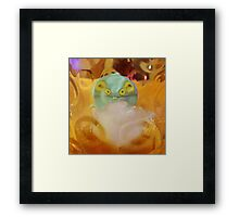 Babo Eyeing Up A Drink Framed Print