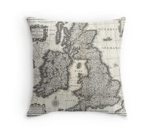 1631 Map of the British Isles by Joan Blaeu Throw Pillow