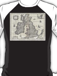1631 Map of the British Isles by Joan Blaeu T-Shirt