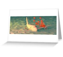 Plane Crash Greeting Card