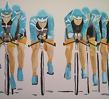 Team Cycle race by Susan Brown