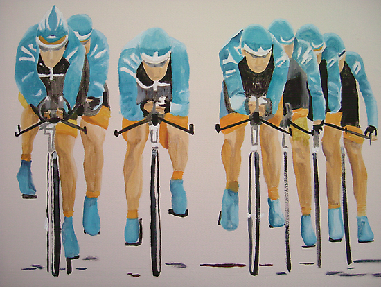 Team Cycle race by Susan Brown