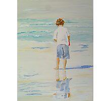 Boy on a beach Photographic Print