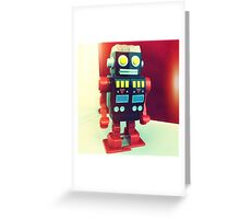 Wind Up Robot Greeting Card