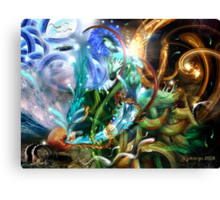 """""""the elements"""" (in collaboration with amorspainter) Canvas Print"""