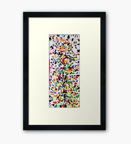 Series brush strokes No. 03/ 2014 Framed Print