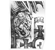 Scared Gargoyle  Poster