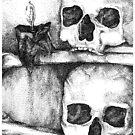 two skulls by Vanessa DeWig