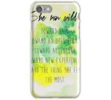 She ran wildly.  iPhone Case/Skin