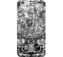 Furmico aegarica Print - Black iPhone Case/Skin