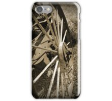 Antique Wagon Wheel Sepia iPhone Case/Skin